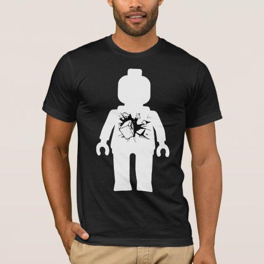 Minifig with Brick Smashing Through it T-Shirt