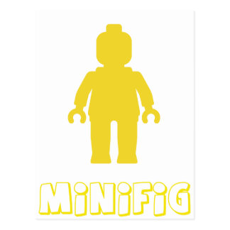 Minifig [Yellow] by Customize My Minifig Postcard