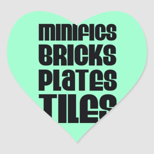 MINIFIGS BRICKS PLATES TILES STICKERS
