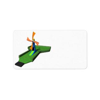 Minigolf Etiquetas De Dirección