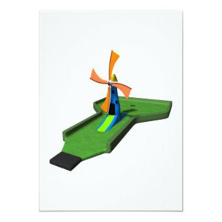 "Minigolf Invitación 5"" X 7"""