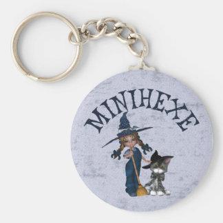 Minihexe Basic Round Button Keychain