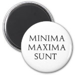 Minima Maxima Sunt Refrigerator Magnets