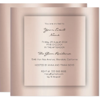 Minimal 3-D Gray Rose Gold Conceptual Ombre Card