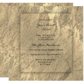 Minimal 3-Faux Sepia Gold Conceptual Marble Card