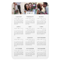 Minimal 4x6 Photo Yearly Calendar Magnet