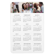 Minimal 4x6 Photo Yearly Calendar Magnet at Zazzle