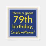 [ Thumbnail: Minimal 79th Birthday Paper Napkins ]