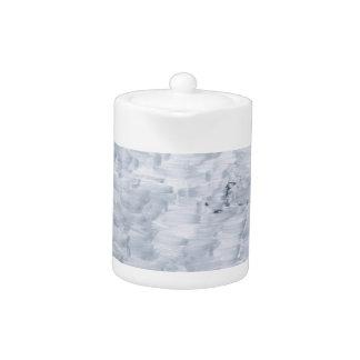 minimal abstract white paint brush texture pattern teapot
