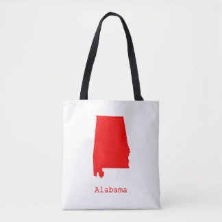 Minimal Alabama United States Tote Bag