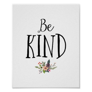 lilanab2 Minimal and Modern Be Kind Nursery Poster