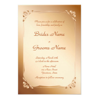 Minimal and  modern beige  Wedding Invitation