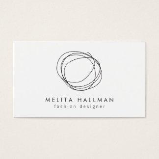 Minimal and Modern Black Designer Scribble Logo Business Card