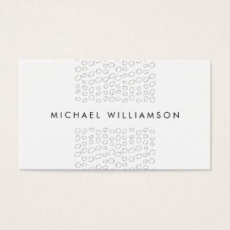 Minimal and Modern Designer Scribble Circles Business Card