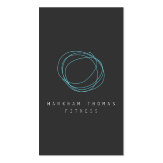 Minimal and Modern Designer Scribble Logo in Blue Double-Sided Standard Business Cards (Pack Of 100)