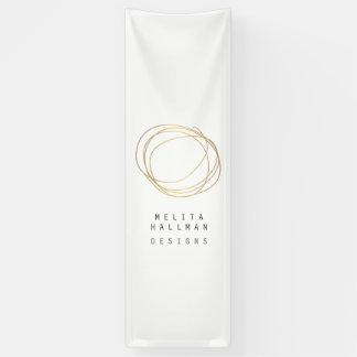 Minimal and Modern Designer Scribble Logo in Gold Banner
