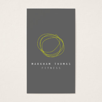 Minimal and Modern Designer Scribble Logo in Lime Business Card