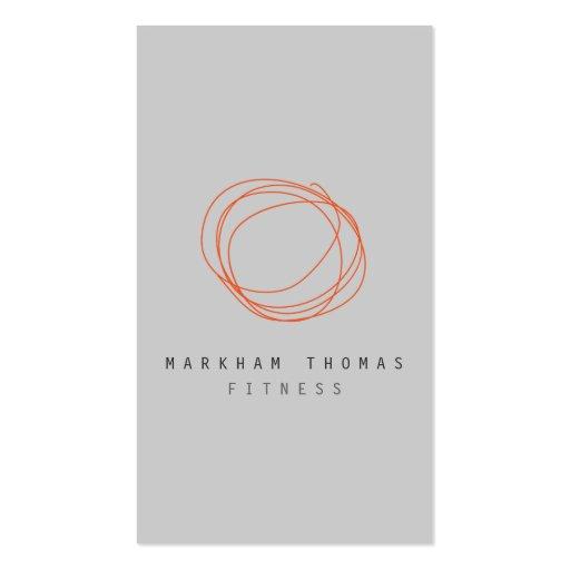 Minimal and Modern Designer Scribble Logo Orange Business Card