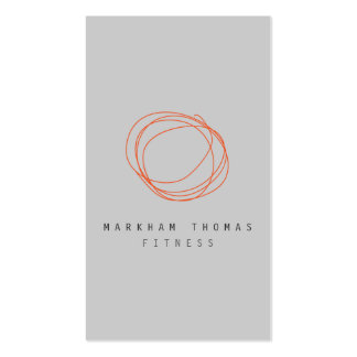 Minimal and Modern Designer Scribble Logo Orange Double-Sided Standard Business Cards (Pack Of 100)