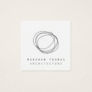 Minimal and Modern Designer Scribble Logo Square Business Card