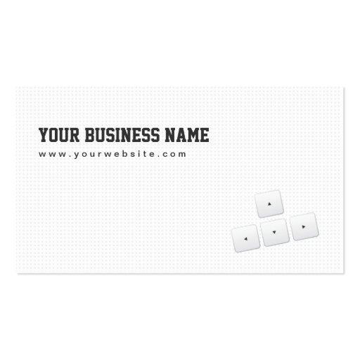 Minimal Arrow Keys Designer Business Card