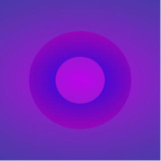 Minimal Art Ring Purple Background Acrylic Cut Outs