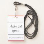 "[ Thumbnail: Minimal ""Authorized Guest!"" Badge ]"