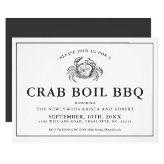 Minimal Backyard Crab Boil Barbecue Invitation