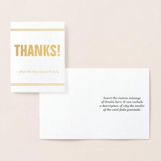 """Minimal, Basic """"THANKS!"""" Card"""