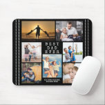 """Minimal BEST DAD EVER Photo Collage Personalized Mouse Pad<br><div class=""""desc"""">Create a keepsake photo memory mouse pad with a collage of seven of your favorite pictures an accented with a rustic faux stitched border. TITLE CHANGE: The simple, classic title BEST DAD EVER can be changed and you can add a personal message like HAPPY FATHER'S DAY, HAPPY BIRTHDAY or WITH...</div>"""