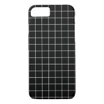 Minimal Black and White Checkbox Pattern iPhone 8/7 Case