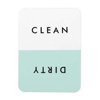 Minimal Blue Dishwasher Clean or Dirty Magnet