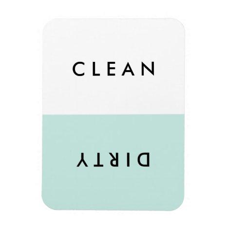 Minimal Blue Dishwasher Clean or Dirty Magnet