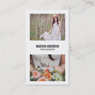 Minimal Bold   Photography Business Cards
