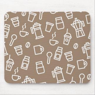 Minimal brown coffee mousepad