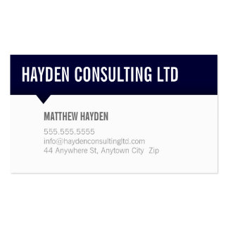 MINIMAL CARD simple modern bold navy blue grey Double-Sided Standard Business Cards (Pack Of 100)