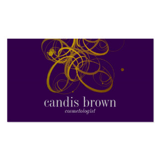 Minimal Chic Faux Gold Cosmetologist Business Card