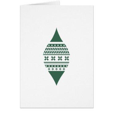 Professional Business Minimal Christmas Ornament Card