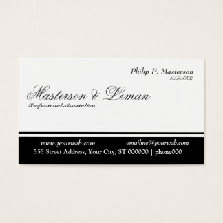 Minimal & Classy  Balanced Stripe Black White Business Card