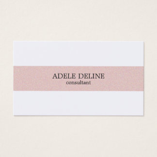 Minimal Clean Pale Pink Texture Stripe White Business Card