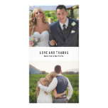 Minimal Collage   Wedding Thank You Photo Card<br><div class='desc'>Photographs provided courtesy of &#169;Blush Photography    For more colors and styles visit our shop!</div>