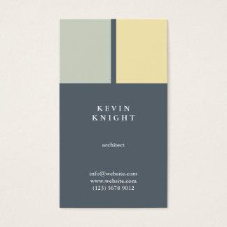 Minimal congregation yellow elegant simple modern business card