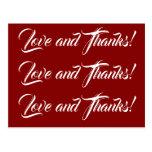 "[ Thumbnail: Minimal, Customizable ""Love and Thanks!"" Card ]"
