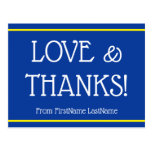 "[ Thumbnail: Minimal, Customized ""Love & Thanks!"" Card ]"