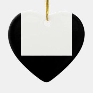Minimal Design Black Frame Heart Ornament