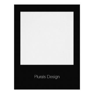 Minimal Design Black W Square Frame Letterhead