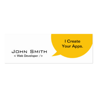 Minimal Dialog Web Developer Mini Business Card