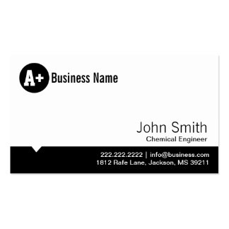 Minimal Dot Chemical Engineer Business Card