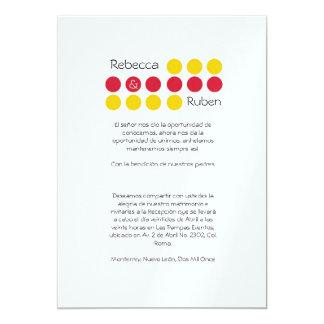 Minimal Dots Wedding Invitation