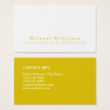 Lawyer Themed Minimal duo tone elegant business card